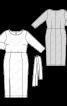 Сукня міді трикотажна з поясом - фото 3