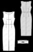 Сукня вузького крою з поясом обі - фото 3