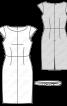 Сукня-футляр з вузьким поясом - фото 3