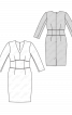Сукня-футляр з V-подібним вирізом горловини - фото 3