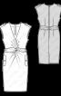 Сукня трикотажна в стилі сафарі - фото 3