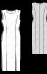 Сукня приталеного силуету з розрізами у швах - фото 3