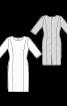 Сукня-футляр лляна з рукавами 3/4 - фото 3