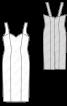 Сукня-сарафан на вузьких бретелях - фото 3