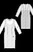 Сукня-футляр мереживна з нижньою сукнею - фото 3