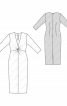 Сукня-футляр з оригінальною драпіровкою - фото 3