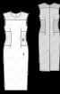 Сукня приталеного крою з контрастними вставками - фото 3