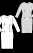Сукня-футляр з боковими вставками - фото 3