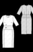 Сукня-футляр з контрастним вшивним поясом - фото 3