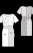 Сукня-футляр з короткими рукавами в стилі колор-блокінг - фото 3