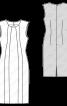 Сукня-футляр з приспущеною лінією плеча - фото 3