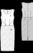 Сукня-футляр двоколірна з декоративними деталями - фото 3