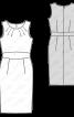 Сукня-футляр із фігурним вшивним поясом - фото 3