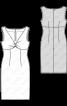 Сукня-футляр з драпіровкою на ліфі - фото 3