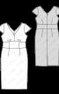 Сукня-футляр з широким вшивним поясом - фото 3
