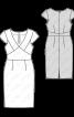 Сукня-футляр з глибоким вирізом горловини - фото 3