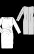 Сукня-футляр з драпіровками біля талії - фото 3