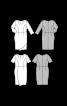 Сукня-футляр з короткими рукавами та з ефектом запаху - фото 3
