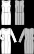 Сукня-футляр шерстяна з круглим вирізом - фото 3