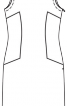Сукня приталеного крою з боковими вставками - фото 3