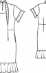 Сукня-футляр з оборками - фото 3