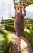 Сукня по фігурі з драпіровками - фото 1