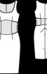 Сукня по фігурі з імітацією пояса-корсажа - фото 3