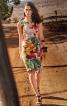 Сукня-футляр з фігурними прорізами по горловині - фото 1