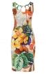 Сукня-футляр з фігурними прорізами по горловині - фото 2