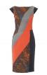 Сукня-футляр в стилі колор-блокінг - фото 2