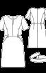 Сукня відрізна вузького крою з широким поясом - фото 3