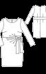 Сукня-футляр із зав'язками на талії - фото 3