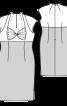 Сукня-футляр з перекрученими чашечками - фото 3