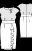 Сукня-футляр комбінована - фото 3