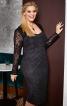 Сукня-футляр мереживна з ефектом бюстьє - фото 1