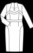 Сукня-футляр з ефектом корсажа - фото 3