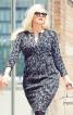 Сукня-футляр з діагональними виточками - фото 1