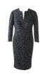 Сукня-футляр з діагональними виточками - фото 2