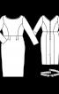 Сукня-футляр з оксамитовим поясом - фото 3