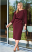 Сукня-футляр з оксамитовим поясом - фото 1