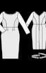 Сукня-футляр з мереживними вставками - фото 3