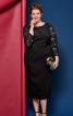 Сукня-футляр з мереживними вставками - фото 1