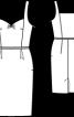 Сукня-футляр на бретелях - фото 3