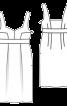 Сукня на бретелях з високою талією і вшитим поясом - фото 3
