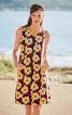 Сукня А-силуету з деталями зі шкіри - фото 1