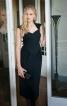 Сукня-футляр з фігурним декольте - фото 1