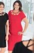 Сукня-футляр відрізна з декором на горловині - фото 1