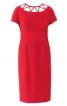 Сукня-футляр відрізна з декором на горловині - фото 2