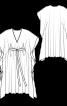 Сукня-каптан з розрізами і поясом - фото 3