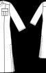 Сукня-каптан з кишенями-портфелями - фото 3